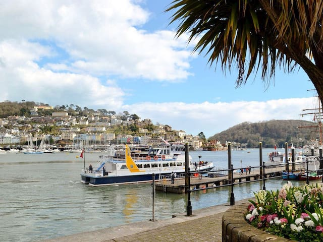 Harbour Glimpse - Dartmouth - Flat