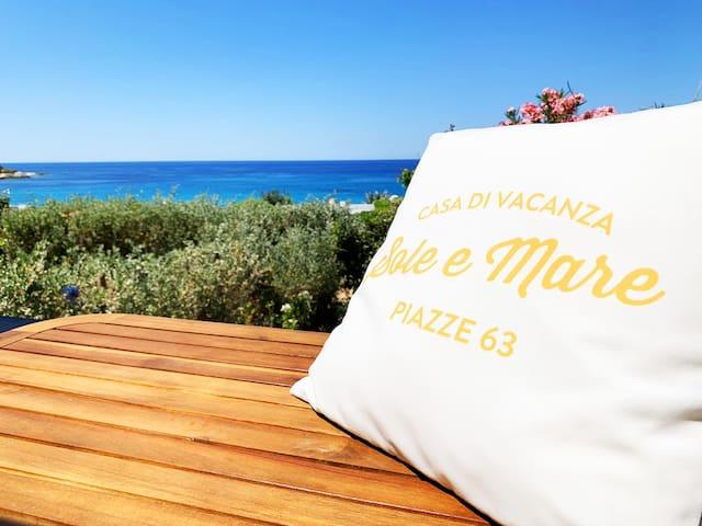 ☀️ Maison Sole&Mare, vue mer, 1mn à pied de la mer