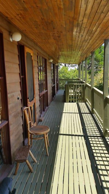 peaceful verandah perfect for watching the birds