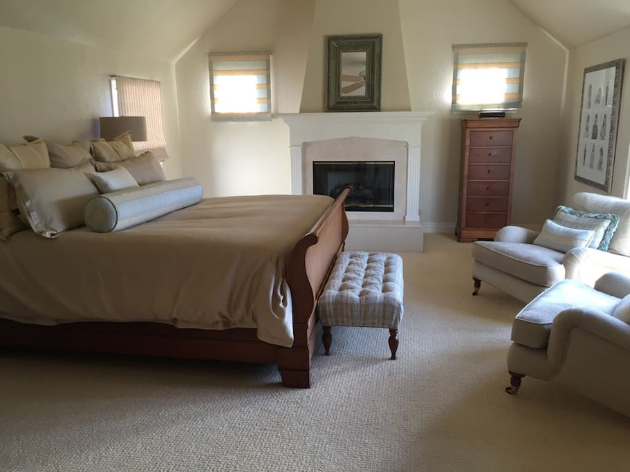 Master Bedroom Suite with gas fireplace