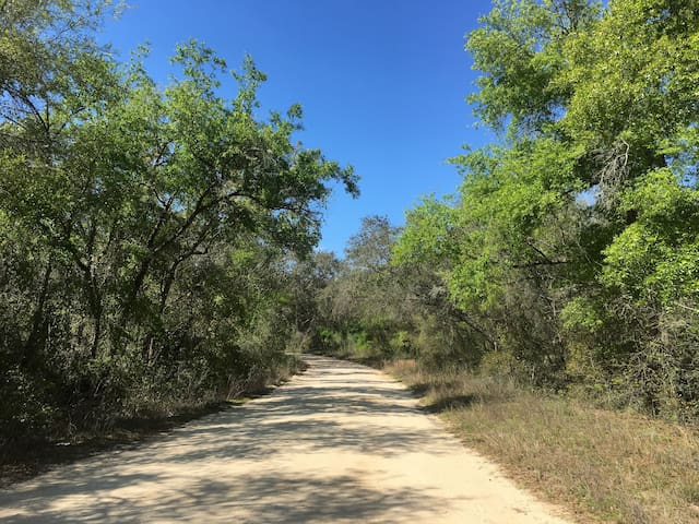 Private dirt road for residents