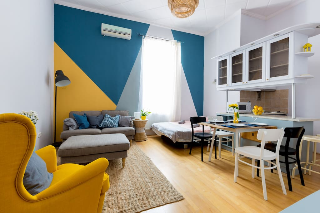 Bright and Stylish living room :)