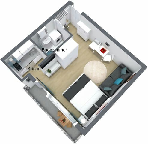 Apartment in 50m from metro station