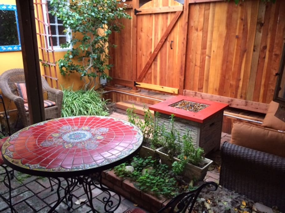 View of Private Courtyard from Studio
