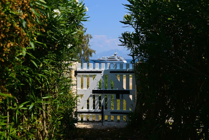 Rosemarine Villa by the beach in Kassiopi.