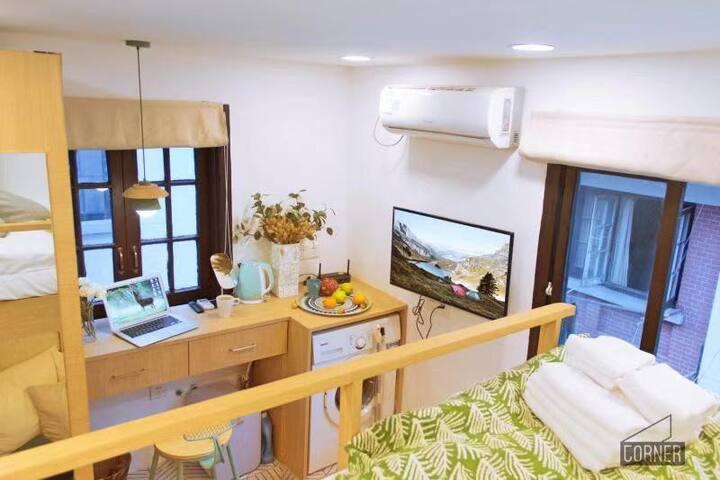 【Corner · Mini】9号线打浦桥站爆红田子坊内温馨舒适功能齐备一居室
