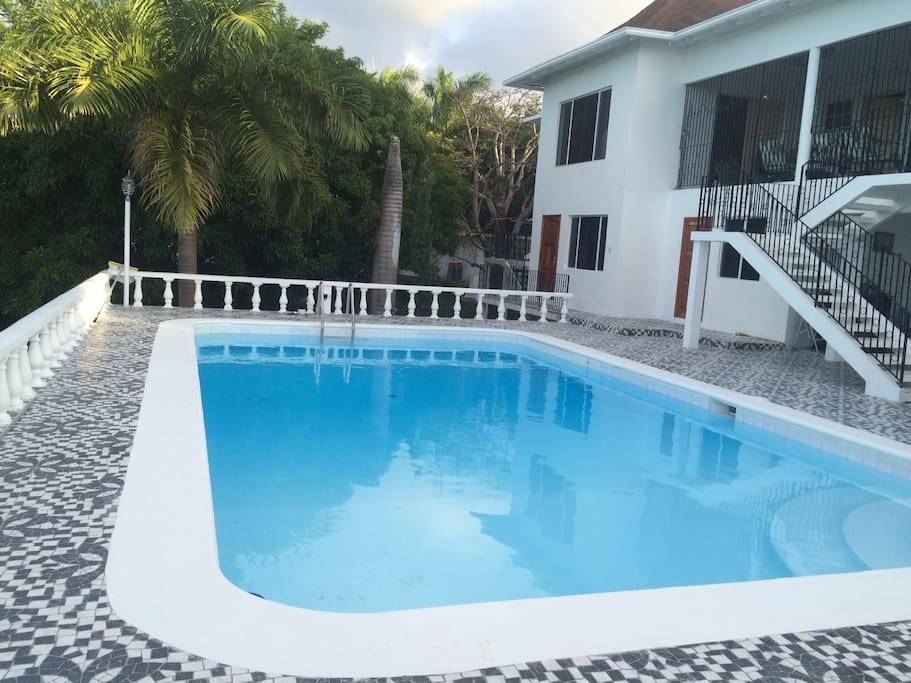 Private rooms have direct access to pool deck