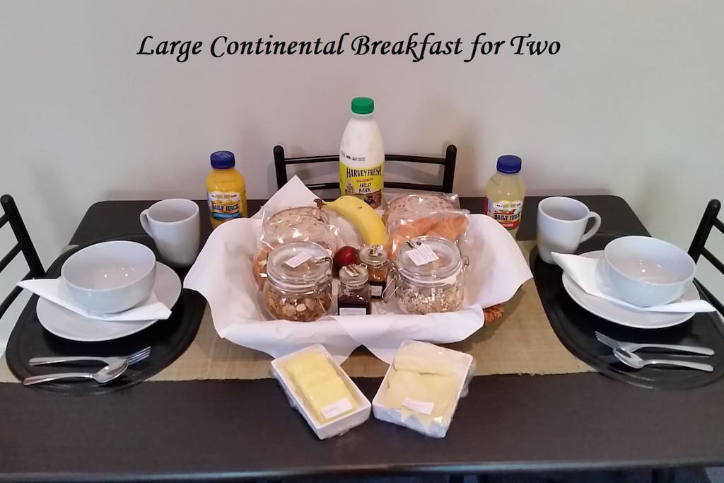 Large Continental Breakfast for Two