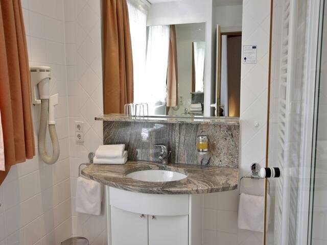 Schwarzwaldgasthof Hotel Schwanen, (Schonach), Einzelzimmer mit Dusche und WC