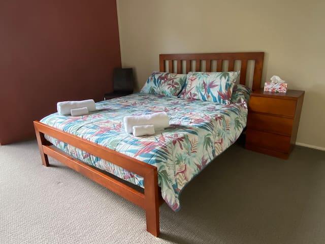 Bedroom 3 of 4. Queen size bed.