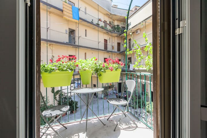 The kitchen's balcony