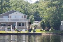 75' of private lake frontage.  Awesome views and convenient location to marina.