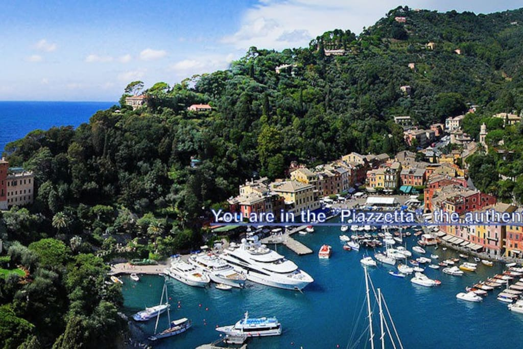 "View of Portofino and its ""Piazzetta"" where the house il located."