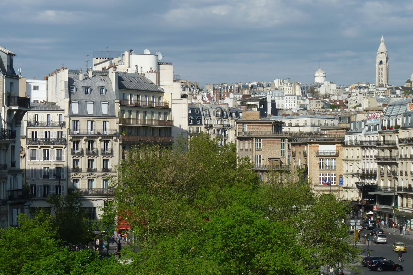 Montmartre view from the balcony