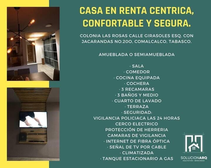 Casa céntrica, confortable y segura