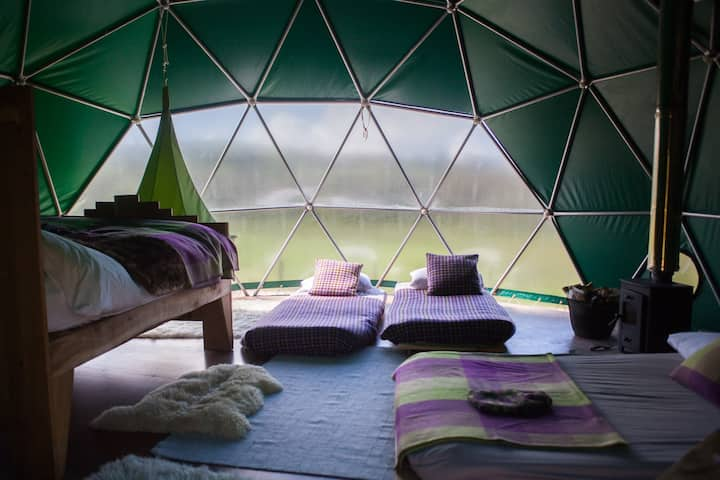Beech Dome, tranquil woodland glamping