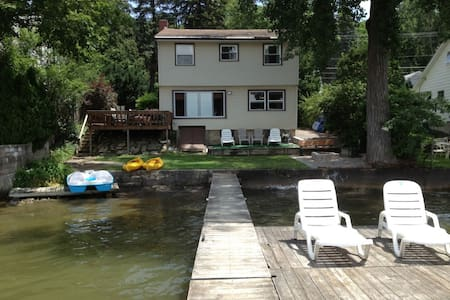5 BR Lakeside House on the Water - Conesus - Hus