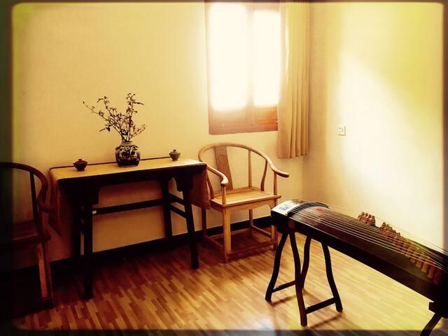 Suite with 2 Twin R·[山景家庭套房]·婺源俞门府第客栈·思口镇徽派老宅民宿