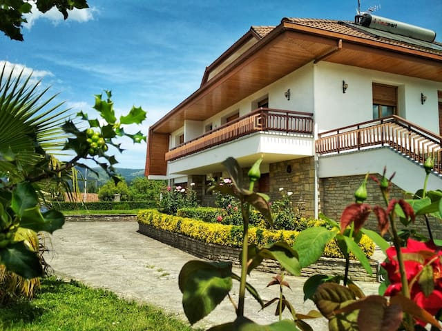 Villa Modesta, espacioso apartamento con jardín.