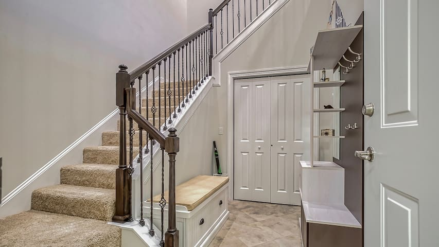Entry Hallway and Stairway