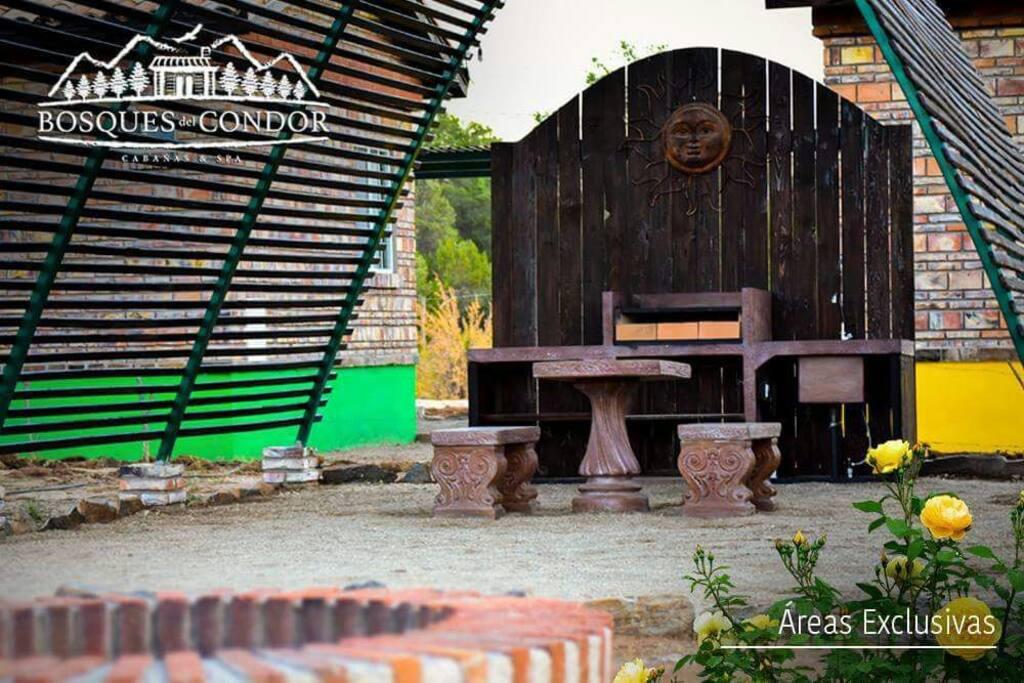 Área privada de asador, sink y Fogata
