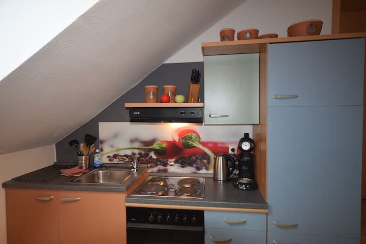 Small top floor apartment in Unterallgäu