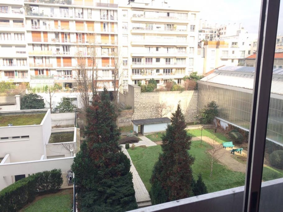 the view of the garden which is available