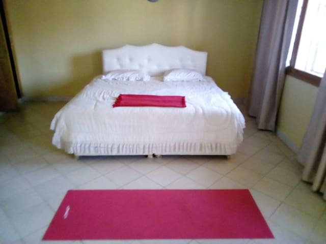 The master bedroom, self contained