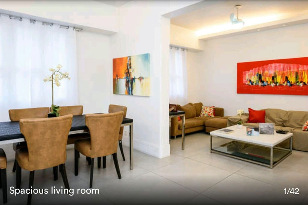 2 ambiance living room ,air conditioner,ceiling fun all rooms