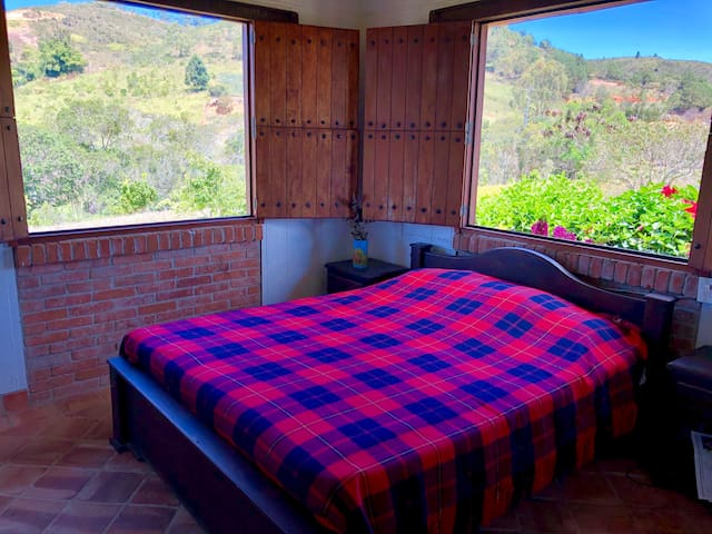 Bedroom with Queen bed and private bath