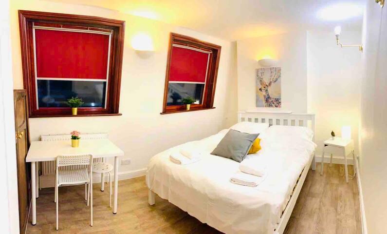 Master Bedroom in Kings Cross St Pancras 3min Walk