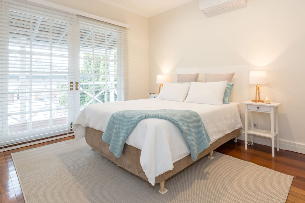 Master Bedroom with Queen Bed TV & AirCon