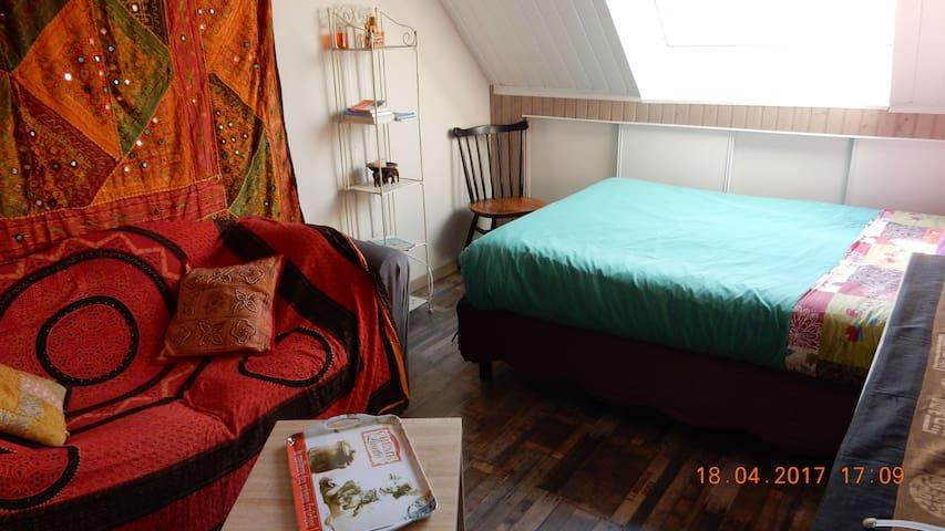 Chambre indépendante avec sa sdb, kitchenette rdc - Pluneret - Haus