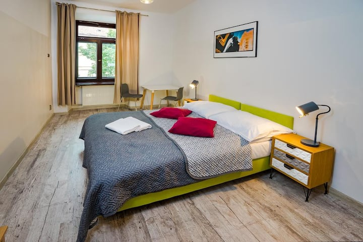 Double room with bathroom in modern OldTown hostel