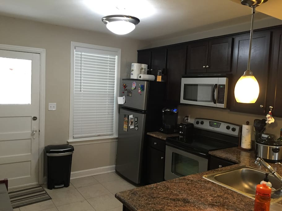 Kitchen with new amenities