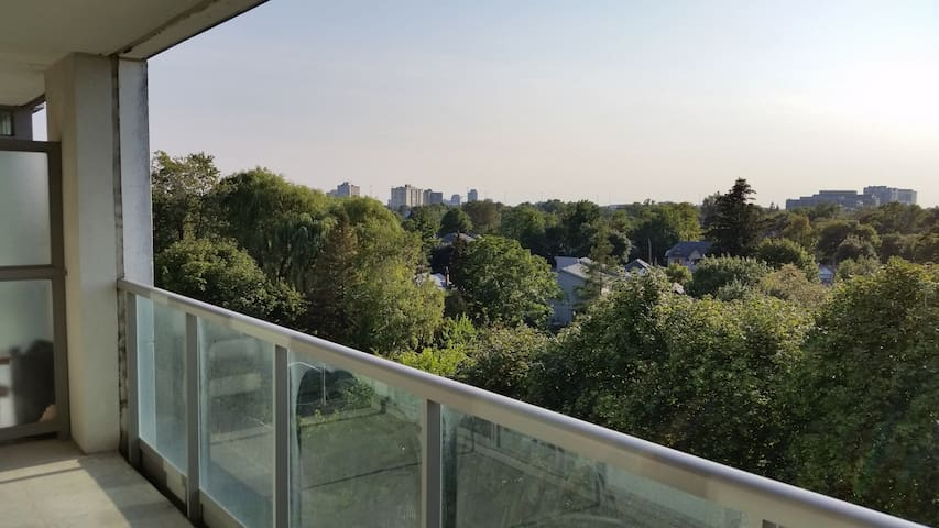 Modern condo suite in North York with a great view