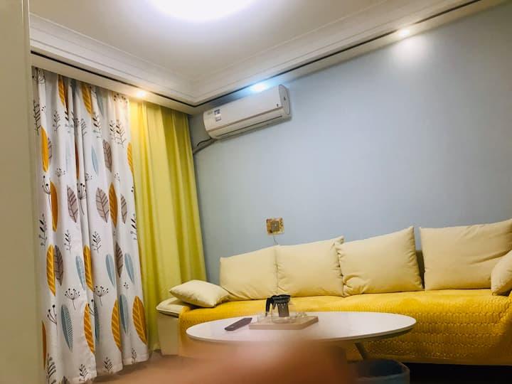 近火车站轻奢风精装两室空调房