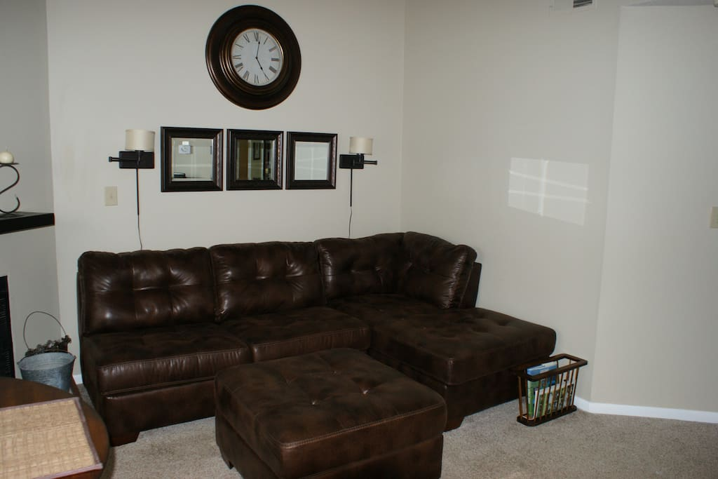 Living area and pull-out sofa