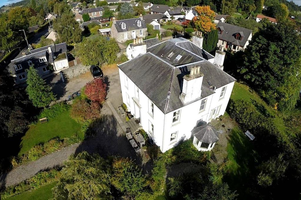 Aerial view of Rosebank