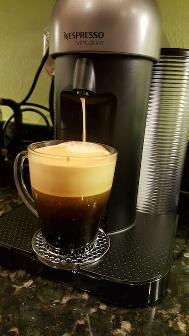 Continental breakfast includes Nespresso coffee