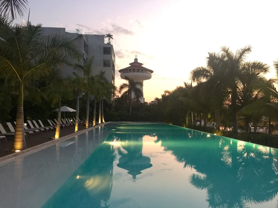 Sunset swim anyone?  Also the view from the pool bar