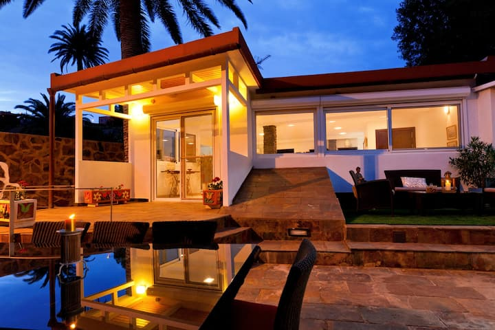 Luxury, child friendly villa with heated pool, lots of privacy and tranquility