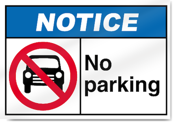 No Parking on Site