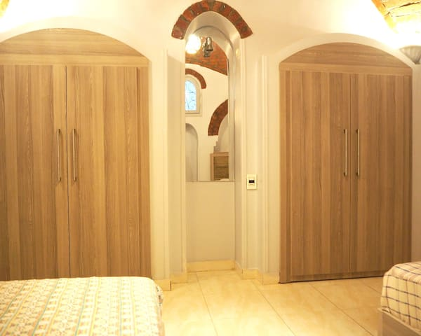Both bedrooms have double wardrobes
