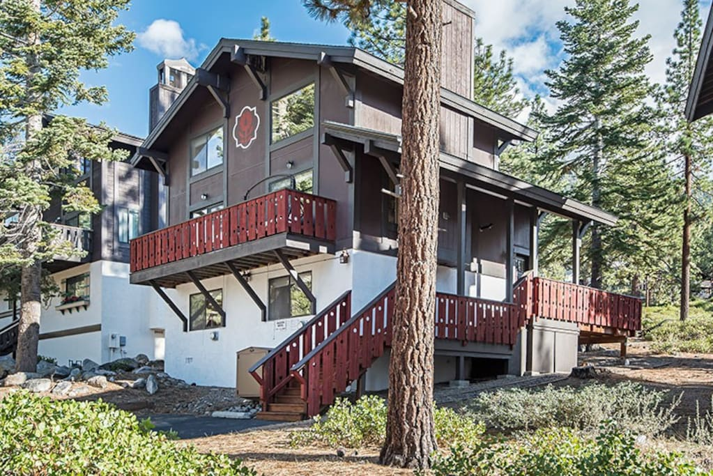 Front of Beautiful South Lake Tahoe, Heavenly Chalet