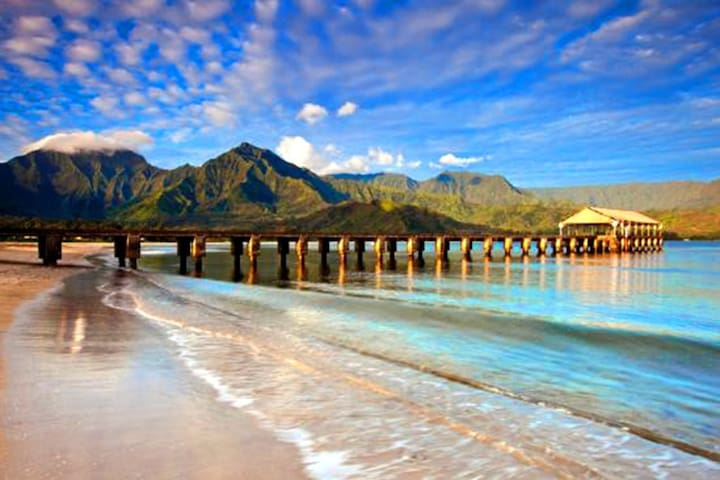 Minutes to Hanalei. Beach side in under 3 minutes! - Princeville - Condominio