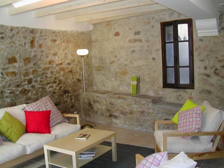 Renovated village cottage, France