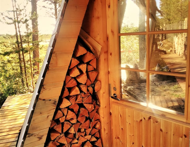 Wilderness Tipi with lake sauna (without water)