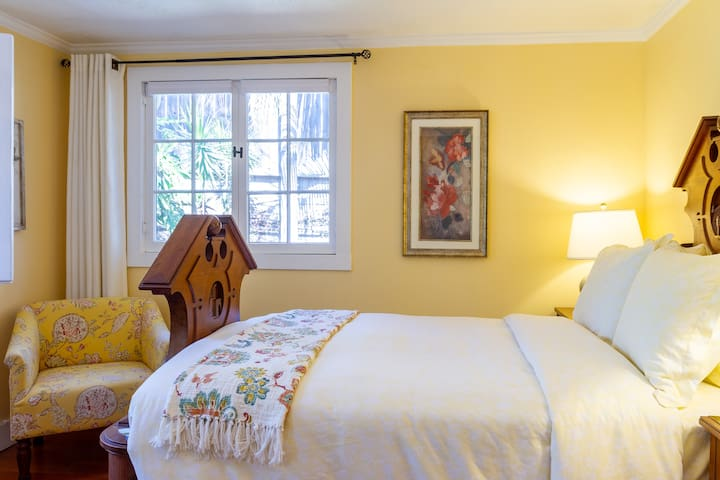 Your bright, cheerful bedroom includes heavy curtains and window blinds for total privacy. There is also a comfy armchair for reading time.