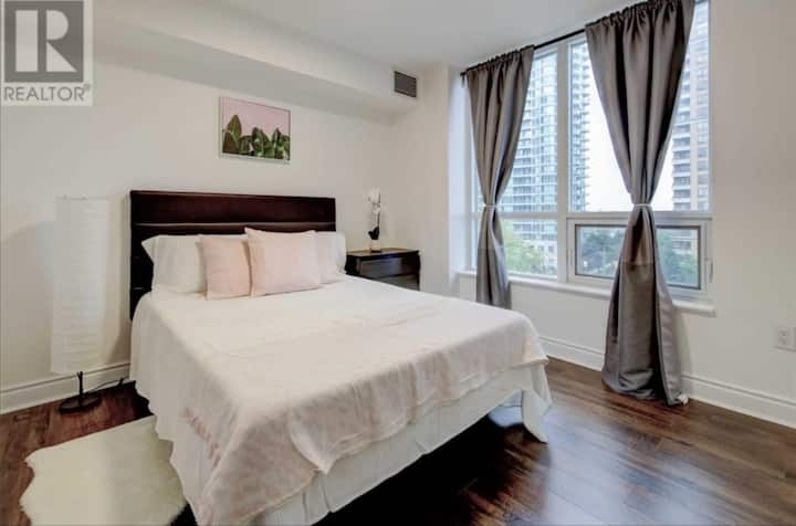 Private bedroom with bathroom in a shared condo